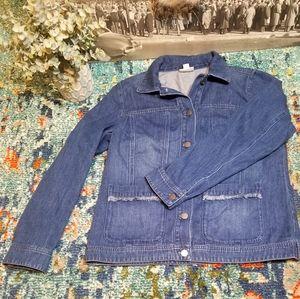 J.Jill Denim Jean Jacket size Small